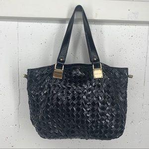 Michael Kors Newbury Blather Leather Woven Bag